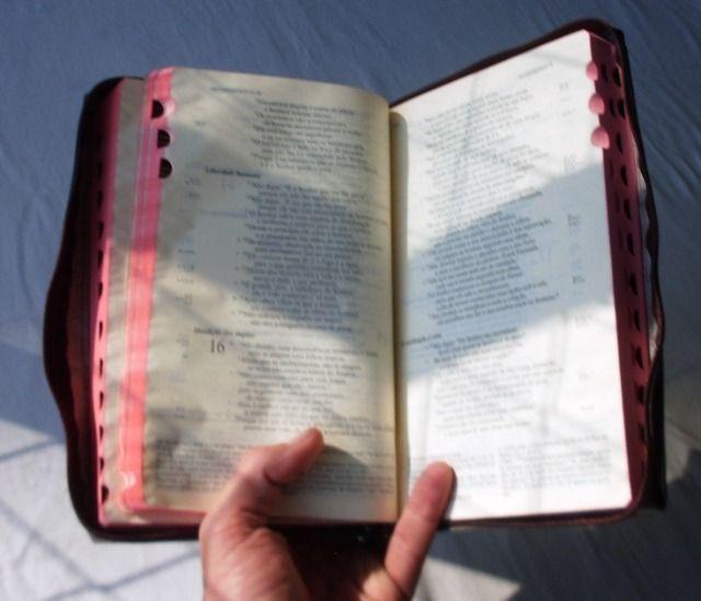 Livro Religioso - Bíblia de Jerusalém - Capa de Couro Com Zíper - 2001 - Foto 6