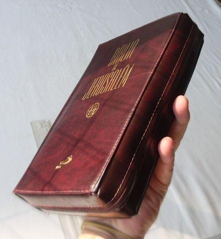 Livro Religioso - Bíblia de Jerusalém - Capa de Couro Com Zíper - 2001