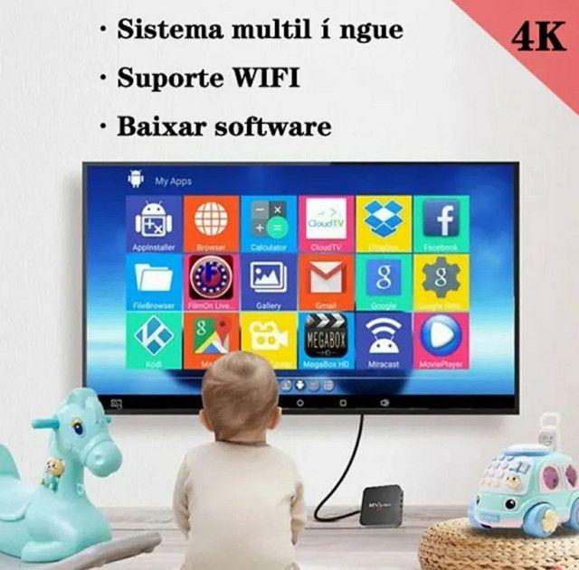 TV Box 5G - 32gb -Transforme sua TV em Smartv - Netflix, YouTube e net - Foto 2