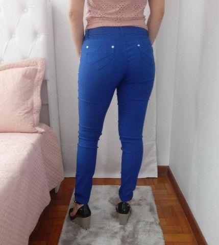 Calça feminina azul número 40 - Foto 4