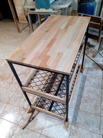 Fabricação de Mesa, Escrivaninha, Bancada Estilo Industrial - Foto 4