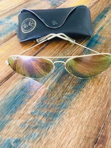 Óculos Ray Ban original Rosa espelhado G  - Foto 2