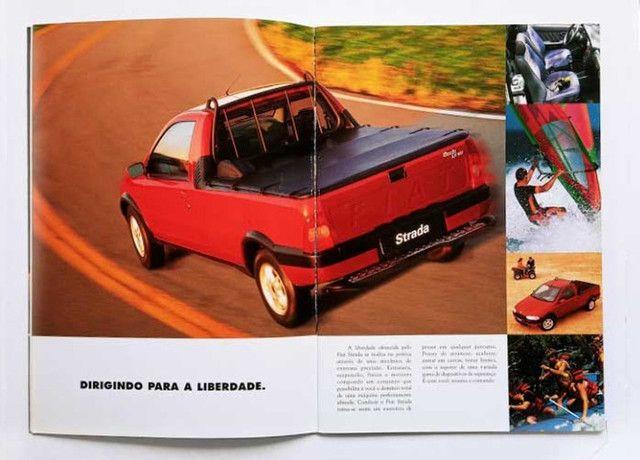 Fiat Strada LX, Trekking e Working - catálogo, folder, brochura - ótimo estado - Foto 2