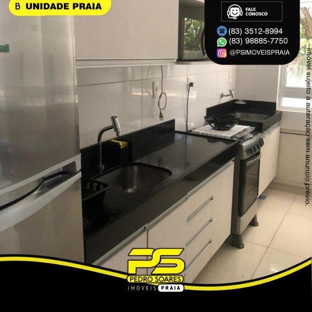 Apartamento com 1 dormitório para alugar, 40 m² por R$ 2.200/mês - Tambaú - João Pessoa/PB - Foto 2