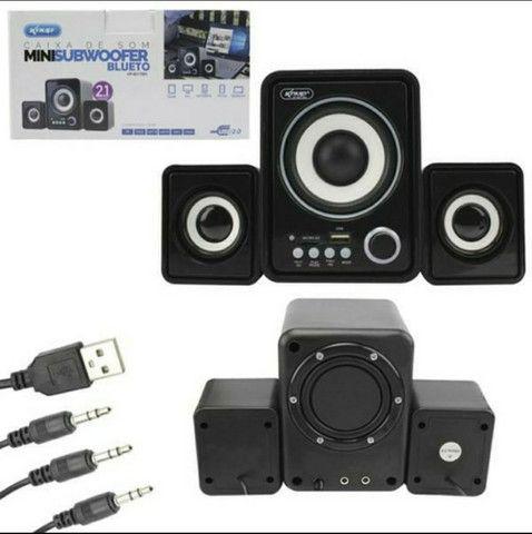 Caixa de Som Bluetooth Para PC Notebook 11W de Potência Soundbar Tv - Foto 3