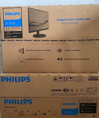 "Monitor Gamer 24"" 75Hz FullHd Led Ips Hdmi Vga Caixa Som Novo NotaFiscal 85.70-62.79"