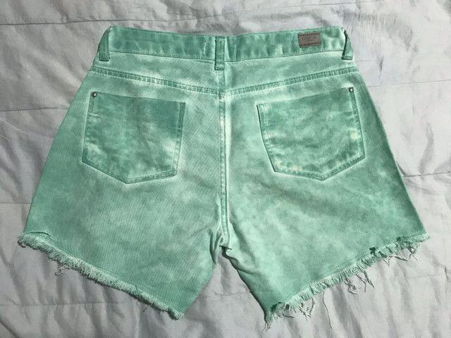 Short jeans verde - Foto 2