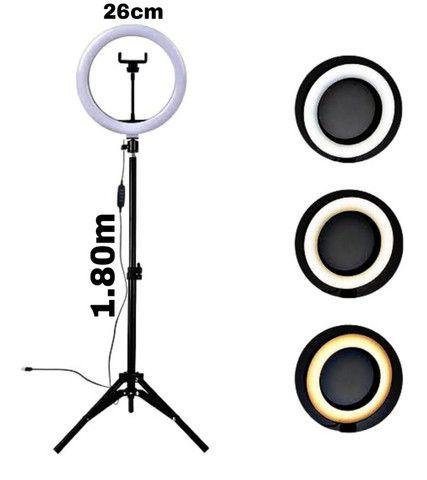 Ring light do grande, 1,80m anel de 26cm (entrega grátis) - Foto 2