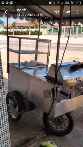 Carrinho de caldo de cana completo com maqna e estufa tudo em inox - Foto 5