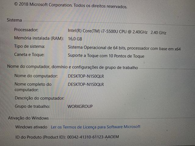 Notebook i7, 16RAM, HD SSD - Foto 4