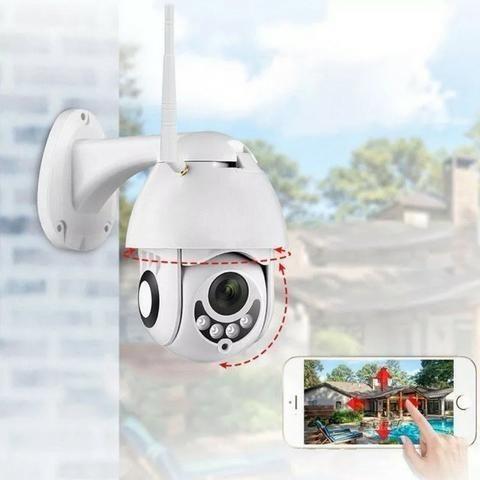 Camera Speed Dome IP Giratória HD Wifi Externa Segurança Noturna Resiste Agua - Foto 5
