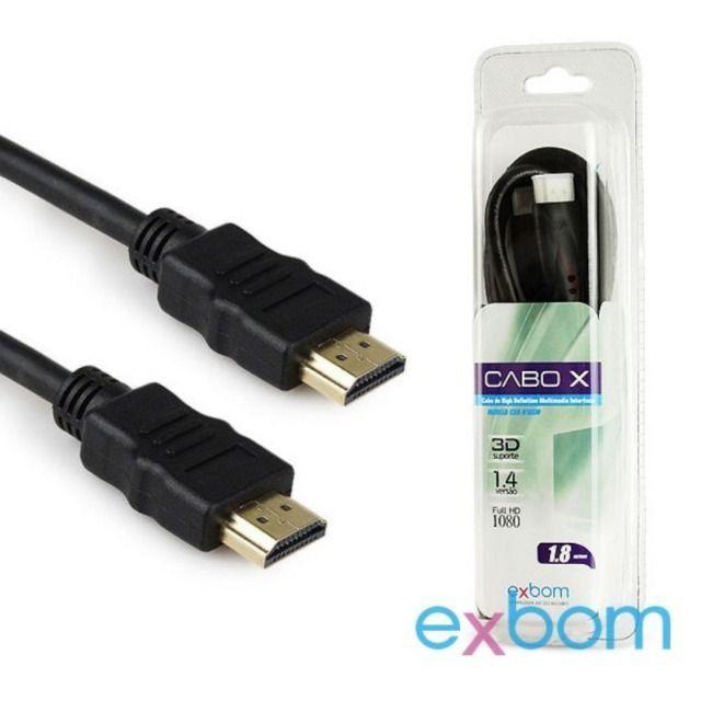 Cabo HDMI + HDMI 1.8M CBX-H18SM - Exbom