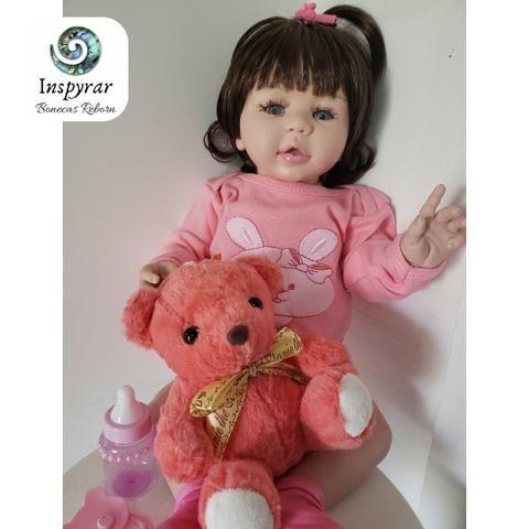 Boneca Bebê Reborn de Silicone 50cm - Foto 2