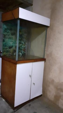 Vendo aquário completo com bomba e filtro