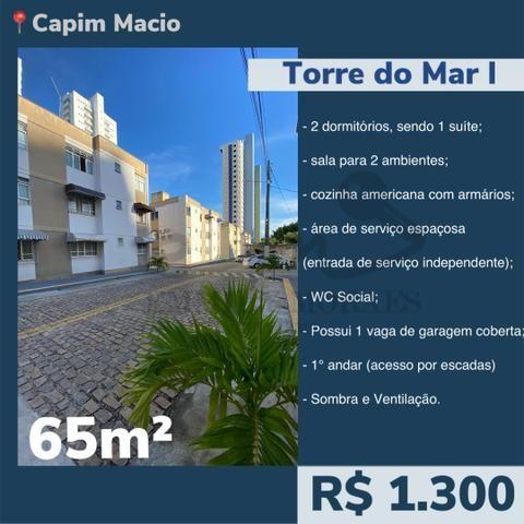Alugo Torre do Mar I - 2/4 sendo 1 suíte - 65m² - R$1.300 - TM2339