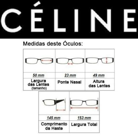Óculos Feminino Céline Quadrado 5689 com Proteção UV - Foto 5
