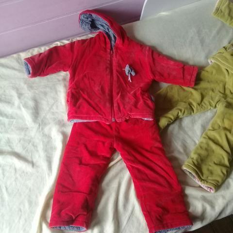 Abrigos quentes + roupas infantis