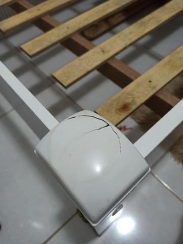 Cama Solteiro branca 100% Mdf - Foto 3