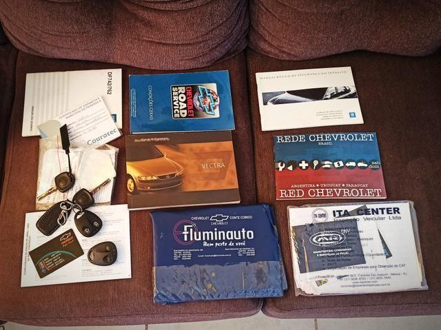 Vectra CD Top de Linha, Manual e Chave reserva! - Foto 7