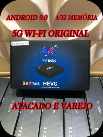 Tv box 5g Wi-Fi Android 9.0 4/32gb memória