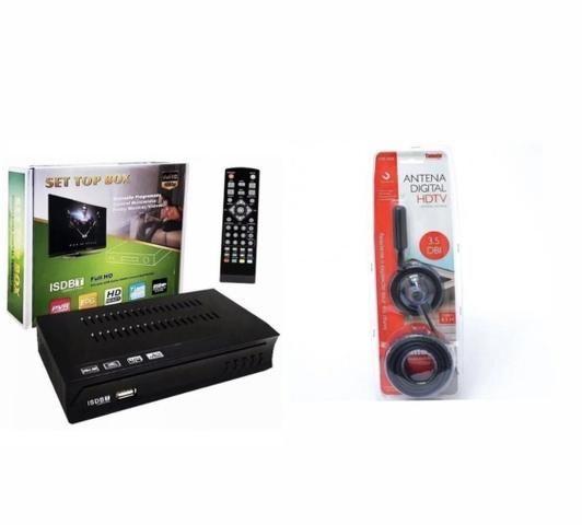 Kit Conversor Digital Tv+ Antena Digital Interna