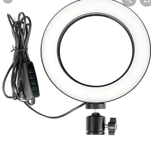 Luz Iluminador Ring Light 6 Polegadas Kp-pl16 Knup 72 Led - Foto 4