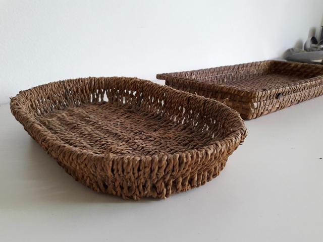 Centro de mesa, jarro, vaso, cesta rústica - Foto 5