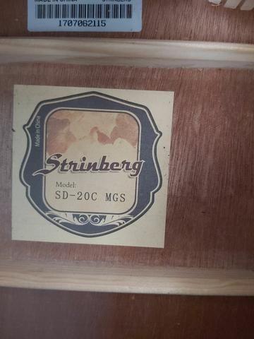 Vendo Violão strinberg folk sd20c mogno (troco por guitarra e cubo) - Foto 4