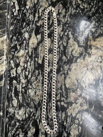 Cordão de prata grosso 100% 50 gramas