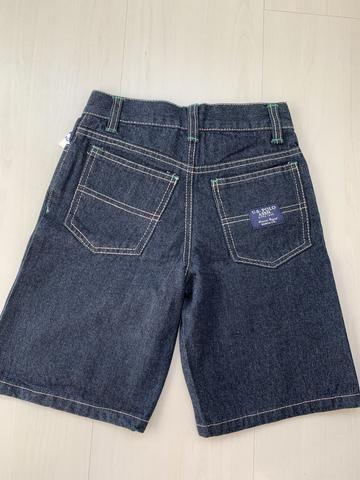 Bermuda jeans nova tamanho 5 anos - Foto 2