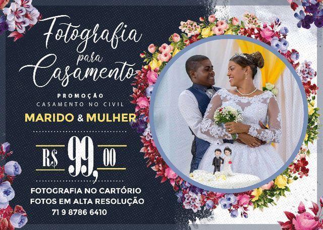 Fotografia para Casamento no Civil Pacote 1