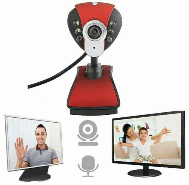 Webcam Full HD Com Microfone Para PC e Notebook