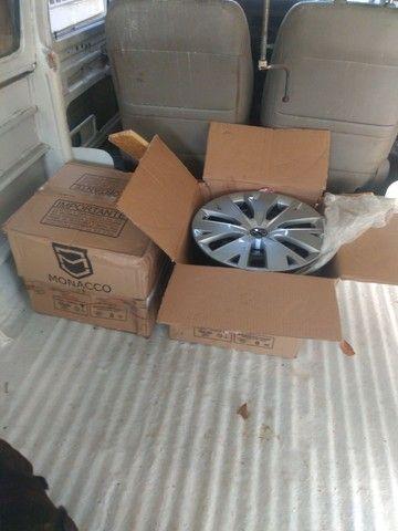 Jogo de roda ferro com calota original VW