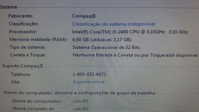 """Core i5-2400 3.10ghz, 4gb, hd 500 gb """"Cpu"""" R$ 1.100  Asa Sul - Foto 5"""