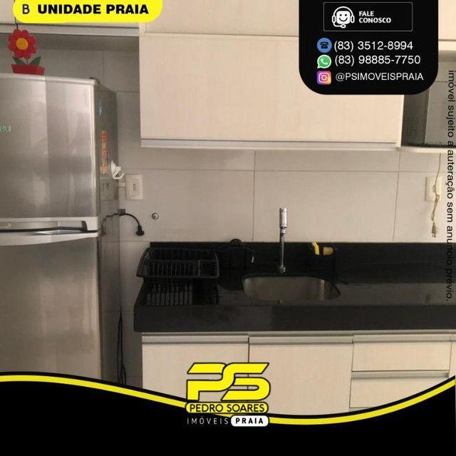 Apartamento com 1 dormitório para alugar, 40 m² por R$ 2.200/mês - Tambaú - João Pessoa/PB - Foto 3