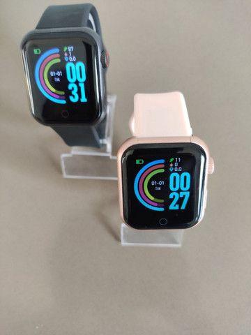 Smart watch d28, recebe notificações das redes sociais, fitness e monitor da saúde - Foto 3