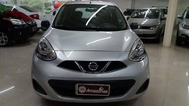 Nissan March 1.0 s 12v Flex 4p Manual Ano: 2015 2016 Cor: Prata - Foto 2