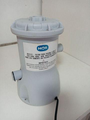 Filtro piscina Mor 2200L/H R$ 100,00