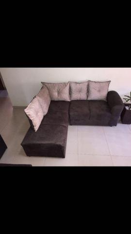 Sofá de canto Larissa c/5 almofadas - Foto 2