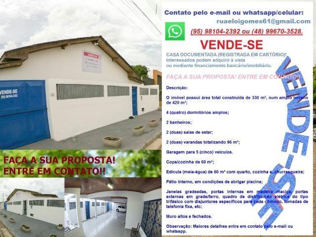 Oportunidade - Casa no São Vicente, perto do centro de Boa Vista, 4 dormitórios