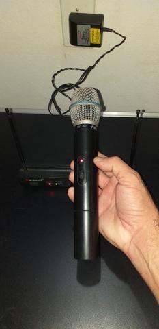 Microfone sem fio uhf