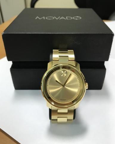 37901bd9473 Relógio Movado Masculino Aço Dourado - Bijouterias