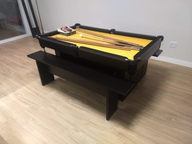 Mesa de Sinuca Tecido Amarelo Modelo MOV2029 - Foto 5
