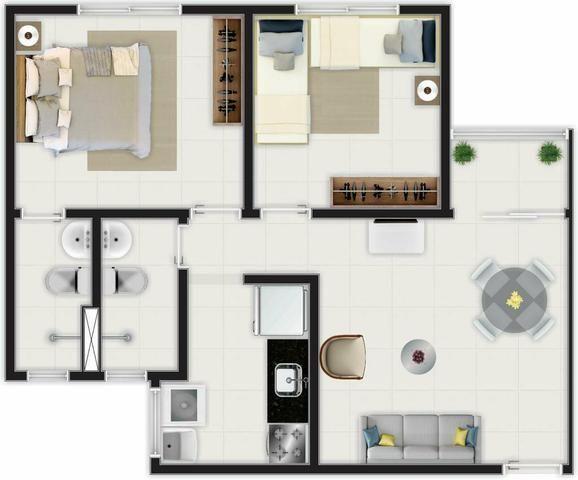 (BBA) Apartamento 2 ou 3 quartos, BEM LOCALIZADO no Turu - Foto 5