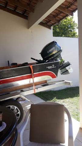 Barco motor 40 e carreta - Foto 2