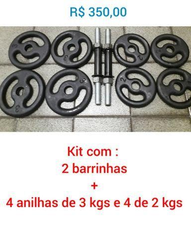 Kit para Musculação (Barrinhas + Anilhas ) Produtos Novos - Foto 4