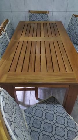 Mesa de madeira de Lei maciça - Foto 2