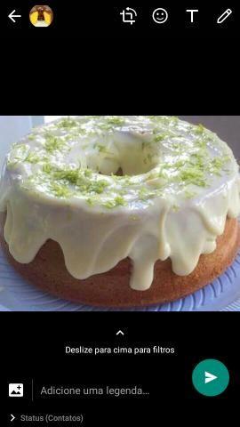 Vendas de bolos com cobertura e sem cobertura