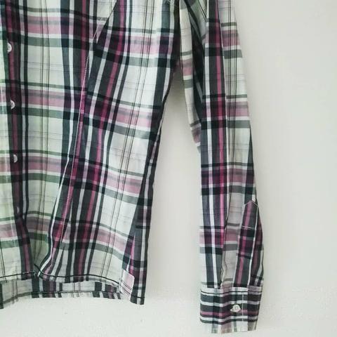 Blusão xadrez azul/preto/rosa/branco - Foto 5