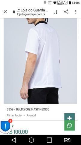 Dolmã jaleco uniforme pizzaiolo lanches - Foto 4